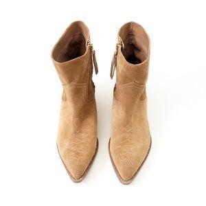 SAM EDELMAN Suede Western Boots